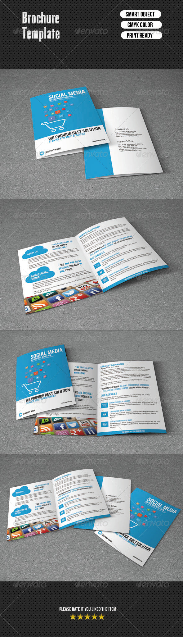 Social Media Marketing Brochure - Corporate Brochures