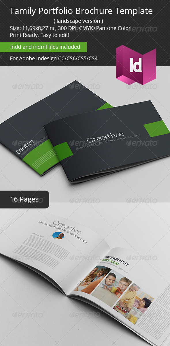 Family Portfolio Brochure Template - Portfolio Brochures