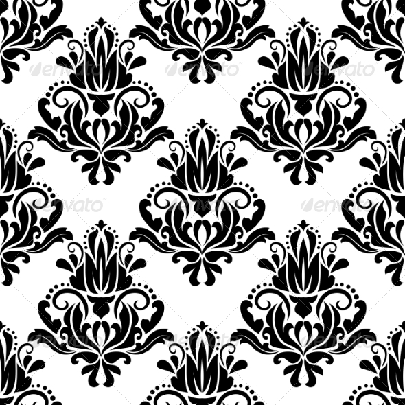 Damask Seamless Pattern Background - Patterns Decorative