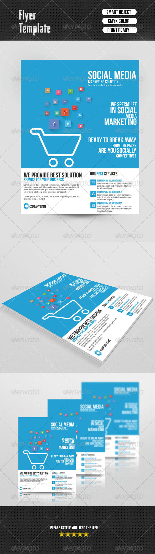 Social Media Marketing Flyer - Corporate Flyers