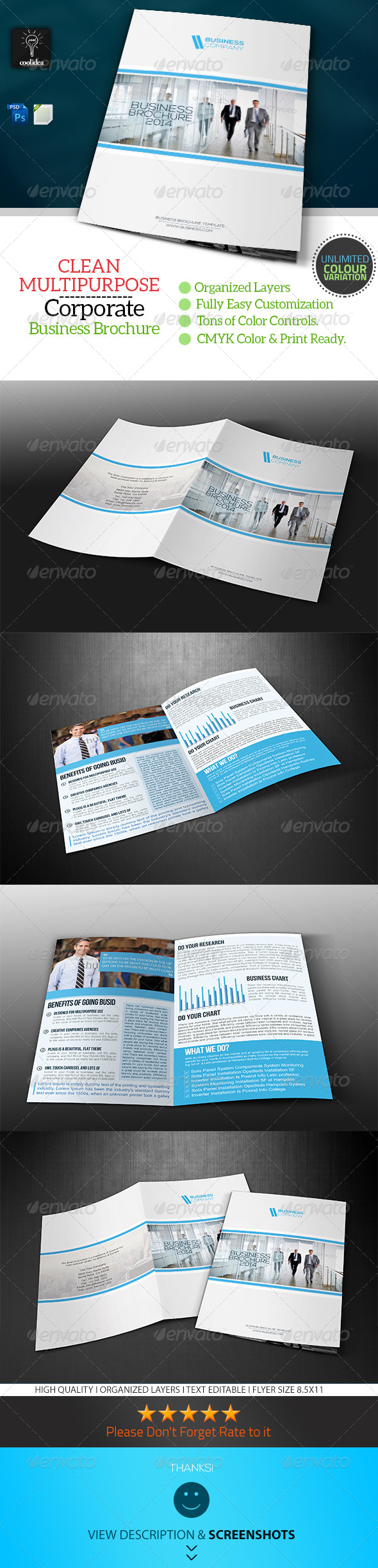 Business Brochure Bifold Template Vol02 - Corporate Brochures