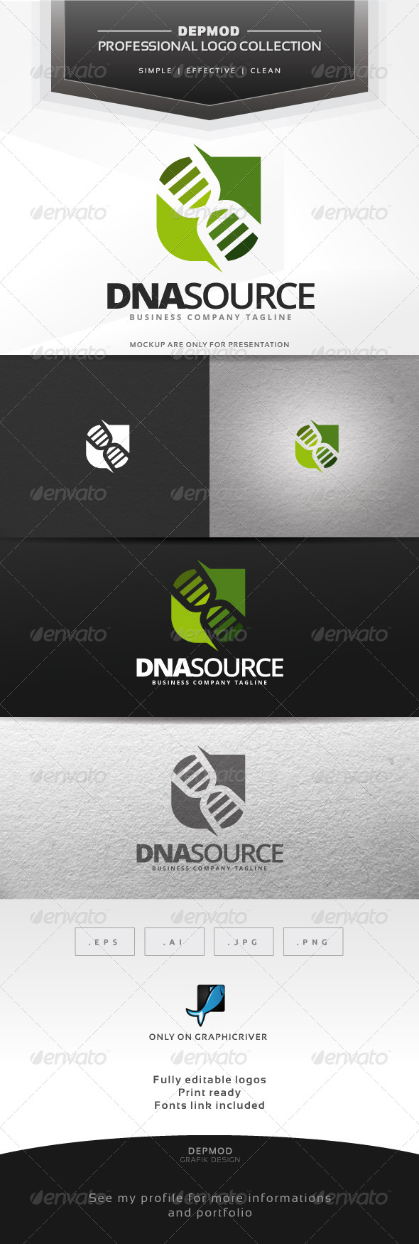 DNA Source Logo - Symbols Logo Templates