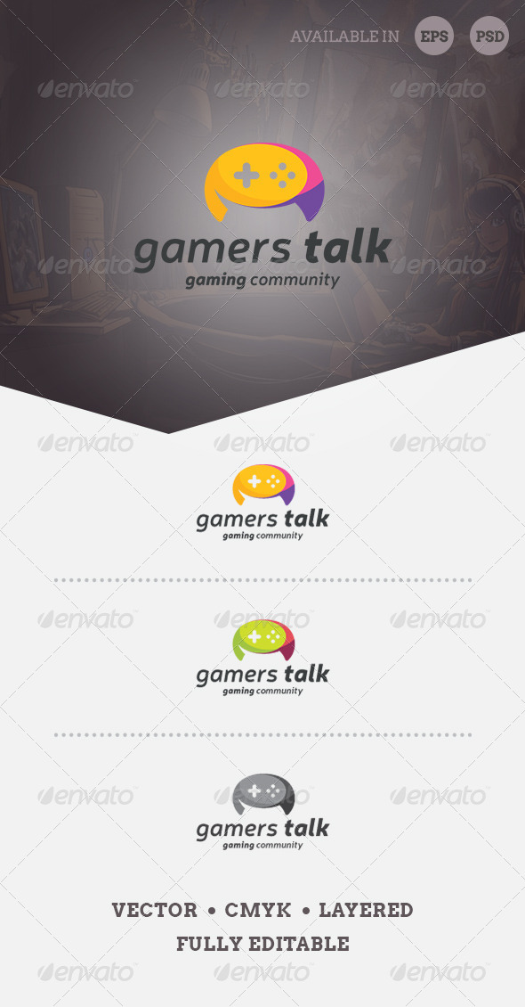 Gamers Talk Logo Template - Objects Logo Templates