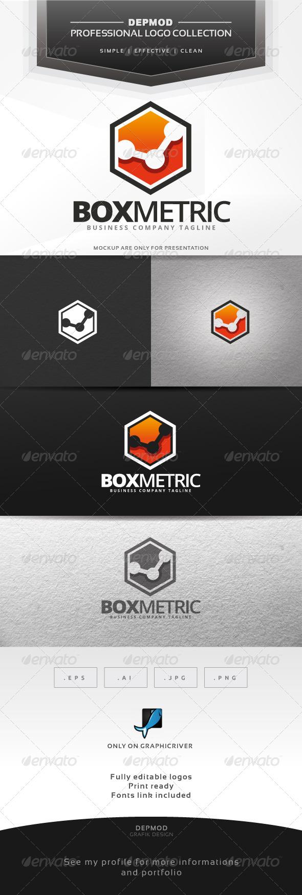 Box Metric Logo - Symbols Logo Templates