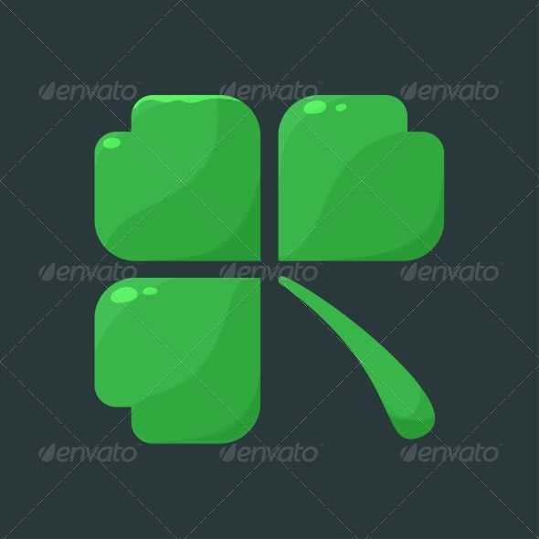 Shamrock Clover Over Dark Background - Miscellaneous Seasons/Holidays
