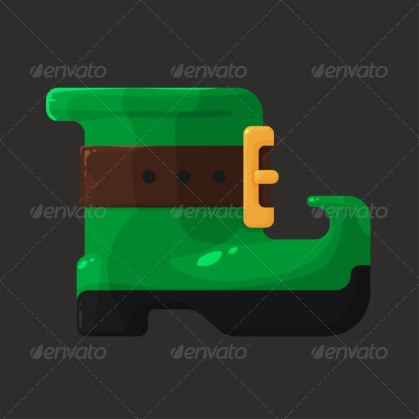Boots of Leprechaun for St. Patricks Day - Miscellaneous Seasons/Holidays