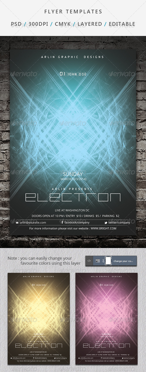 Futuristic Flyer Template - 06 - Clubs & Parties Events