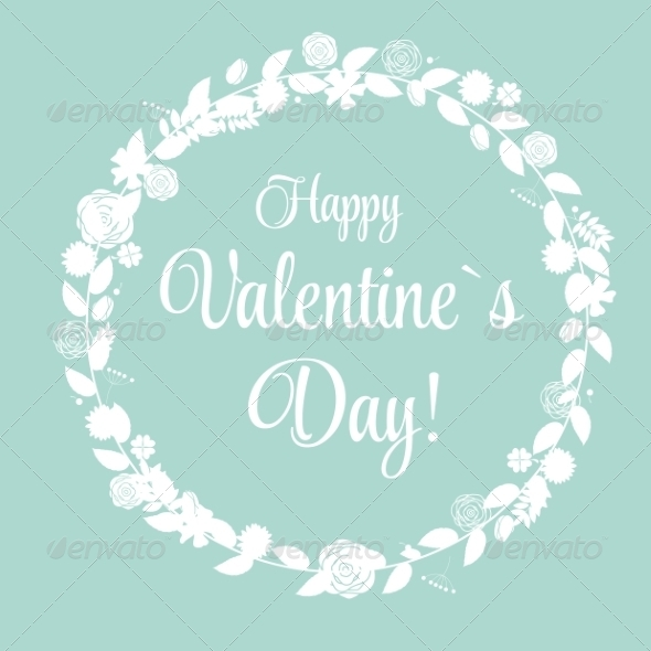 Vector St Valentine Day's Greeting Card in Retro - Valentines Seasons/Holidays