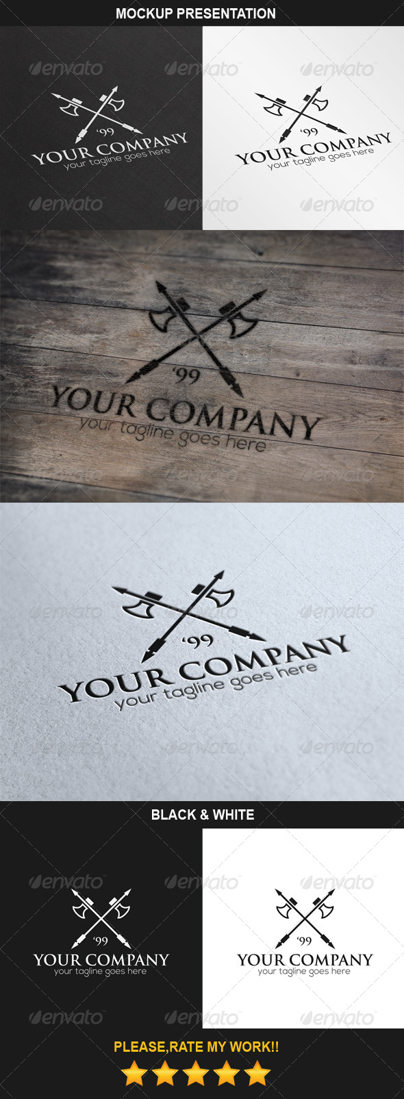 Axes Logo - Objects Logo Templates