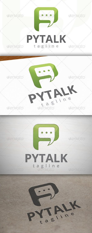 Talk P Logo - Letters Logo Templates