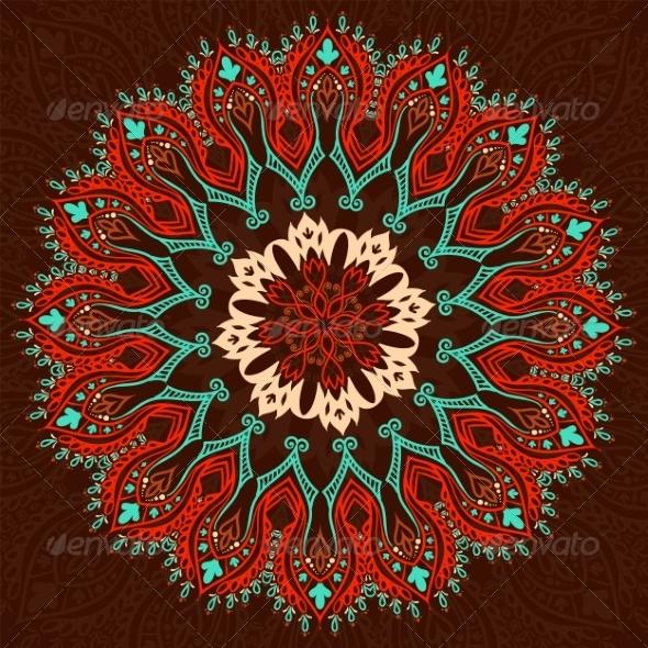 Round Vintage Pattern - Patterns Decorative