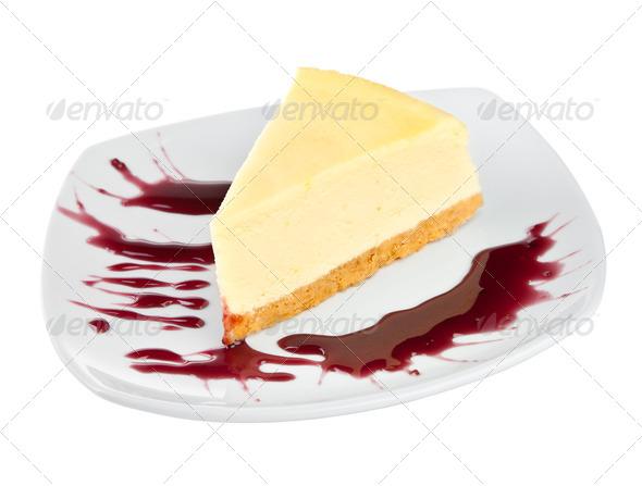 Dessert - Cheesecake - Stock Photo - Images