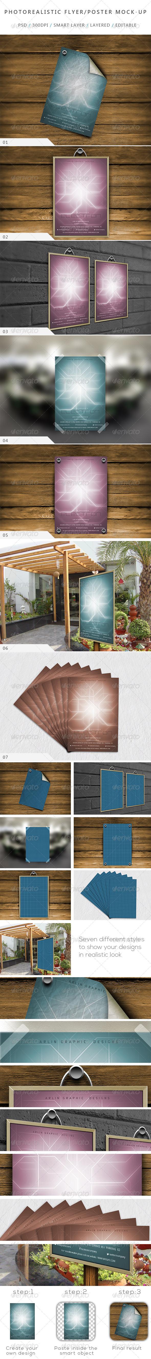 Photorealistic Flyer / Poster Mock-up-V:01 - Flyers Print
