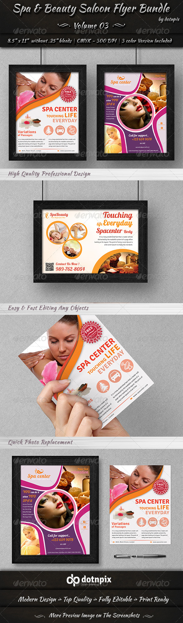 Spa & Beauty Saloon Flyer Bundle | Volume 3 - Corporate Flyers