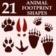 Animal Footprint Custom Shapes - GraphicRiver Item for Sale