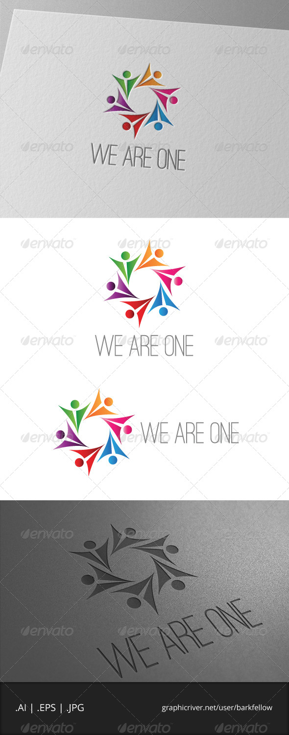 We Are One Logo - Humans Logo Templates