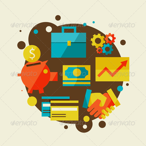 Finance and Business Concept - Concepts Business