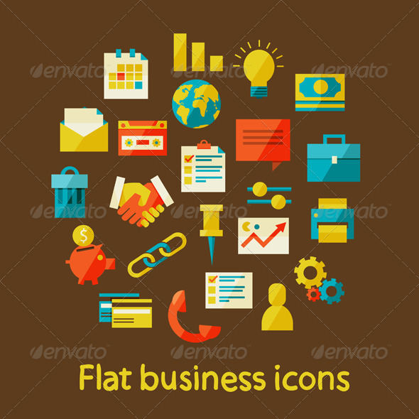 Flat Business Icons - Concepts Business