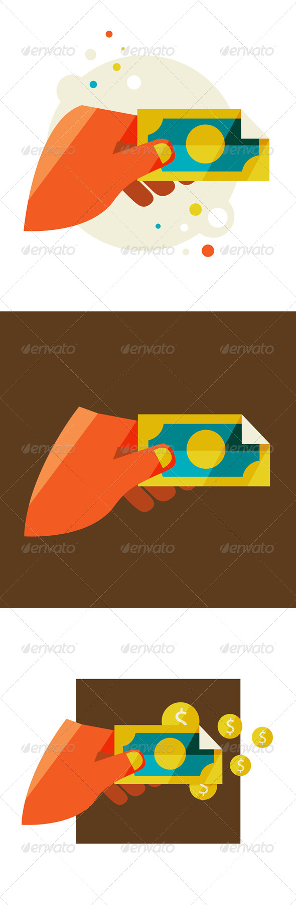 Man's Hand Holding a Banknote - Concepts Business