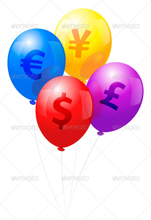Balloons Currency - Decorative Symbols Decorative