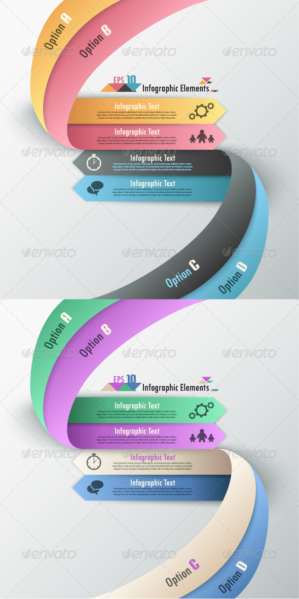 Modern Infographic Options Banner (Two Versions) - Infographics