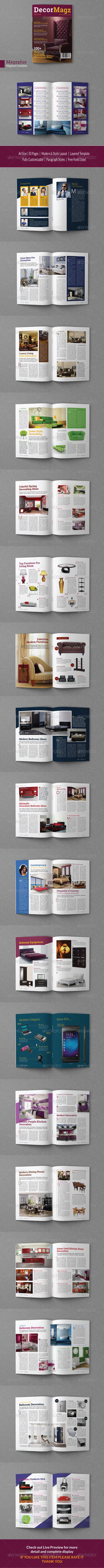 Decormagz_Magazine_Template - Magazines Print Templates