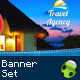 Travel Agency Banner Set - GraphicRiver Item for Sale