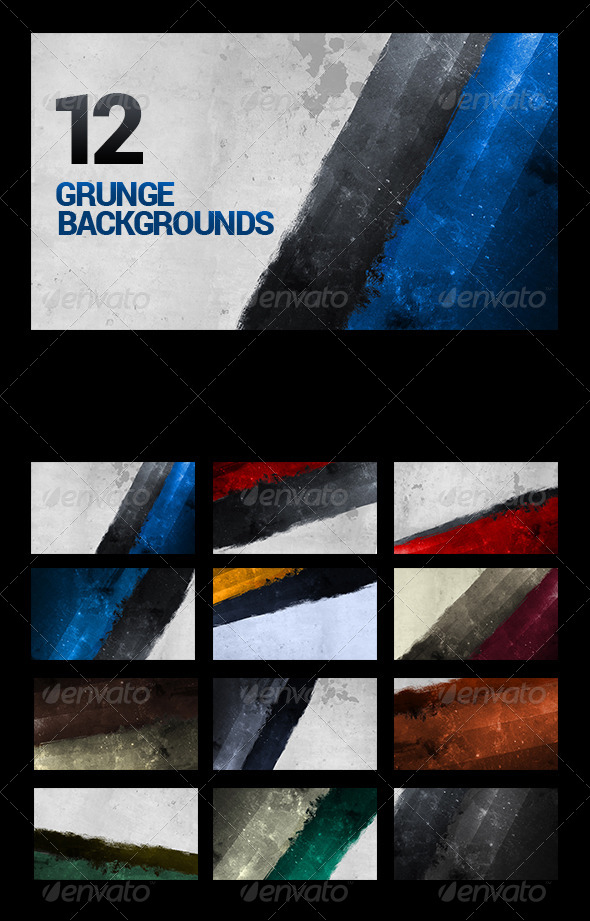 12 Painted/Urban/Grunge Backgrounds - Backgrounds Graphics