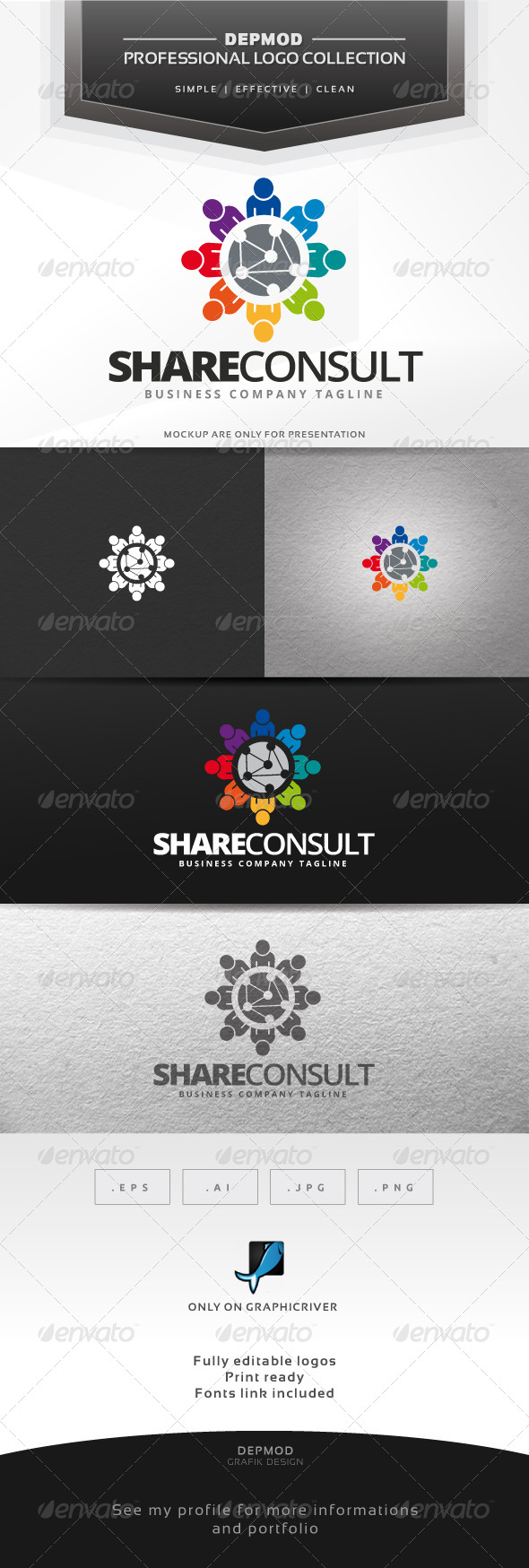Share Consult Logo - Symbols Logo Templates