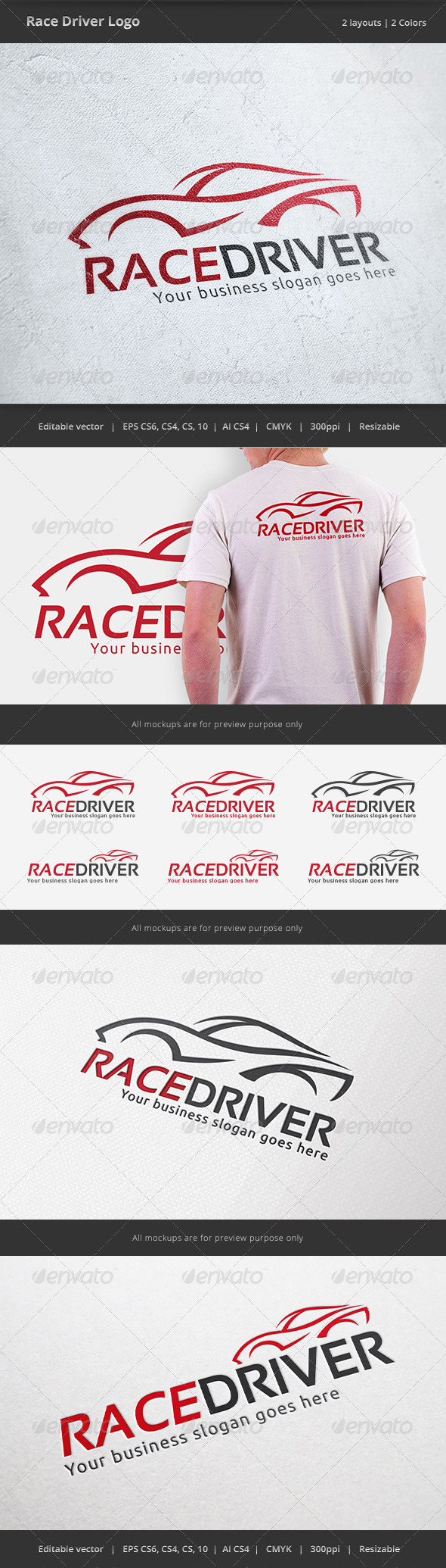Race Car Driver Logo - Objects Logo Templates