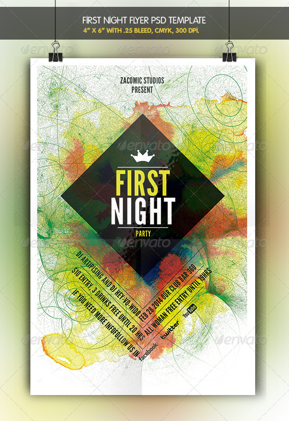 First Night | Flyer Template - Clubs & Parties Events