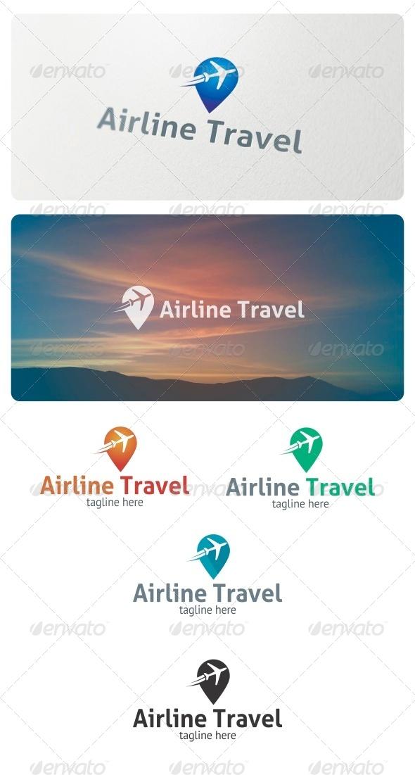 Airline Travel Logo - Symbols Logo Templates