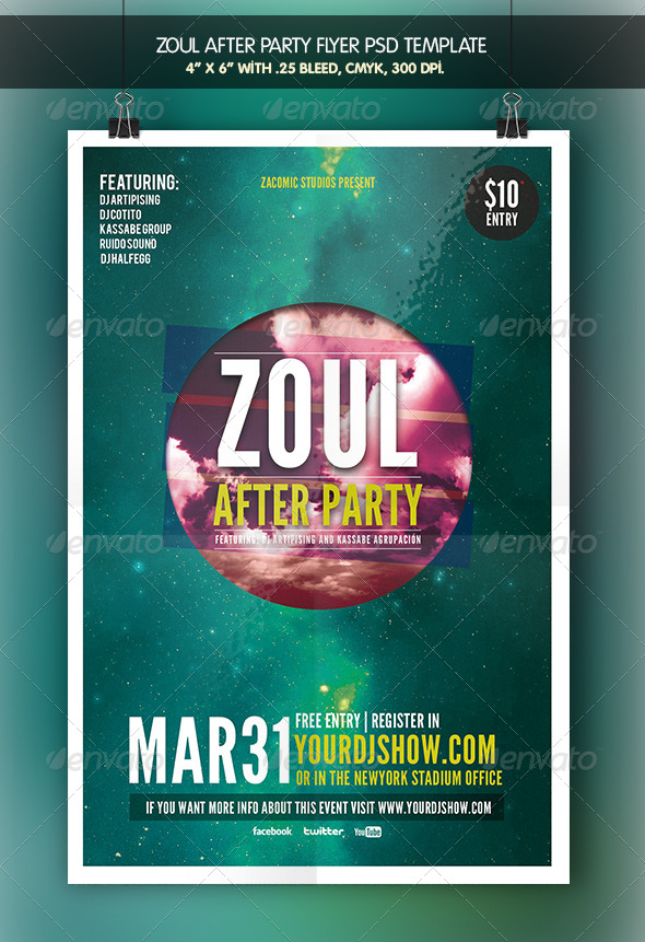Zoul After Party | Flyer Template - Clubs & Parties Events