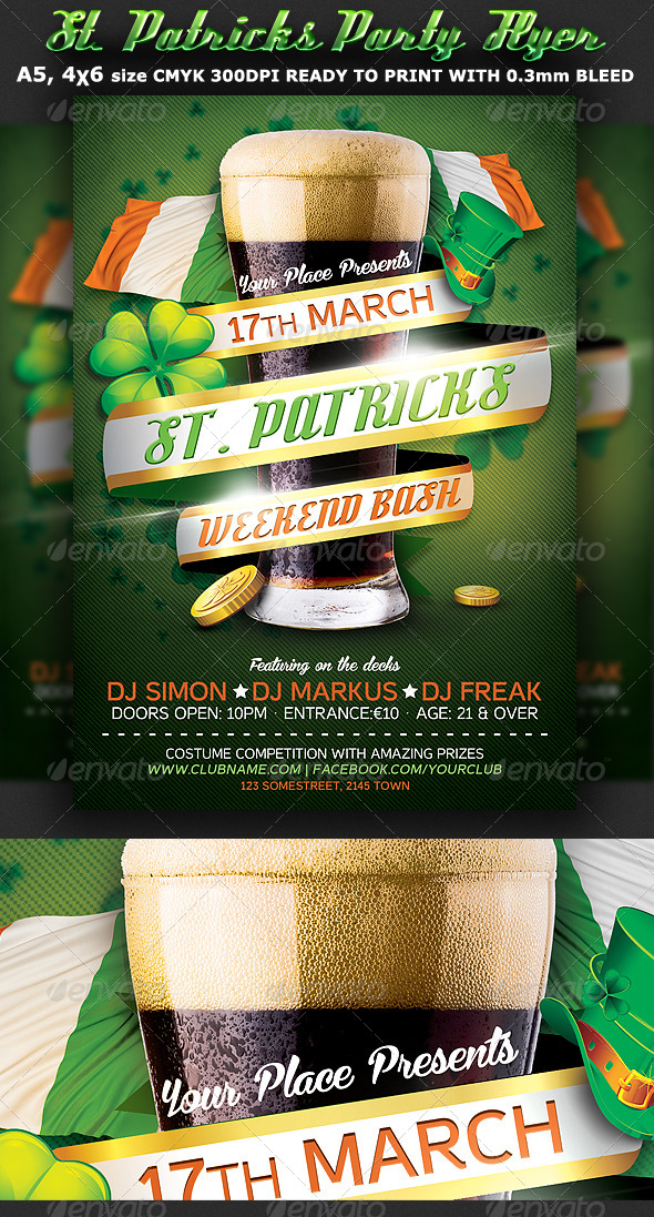 St. Patricks Flyer Template - Events Flyers