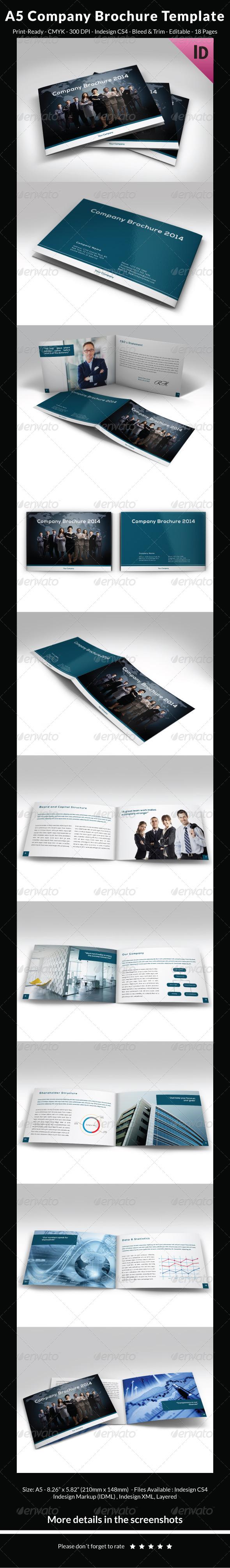 A5 Company Brochure Template - Corporate Brochures