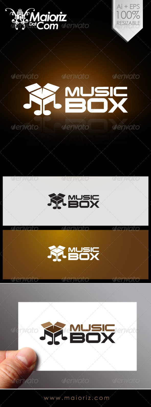 Music Box Logo - Objects Logo Templates