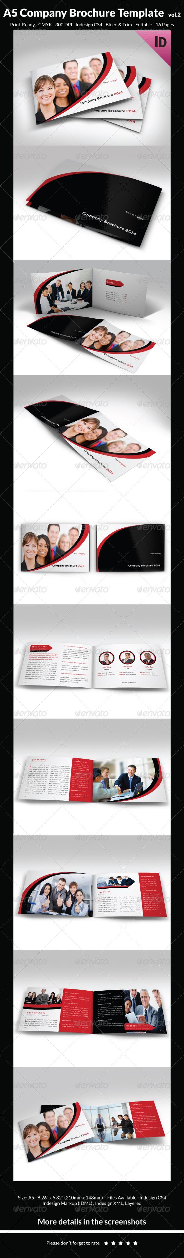 A5 Company Brochure Template vol.2 - Corporate Brochures