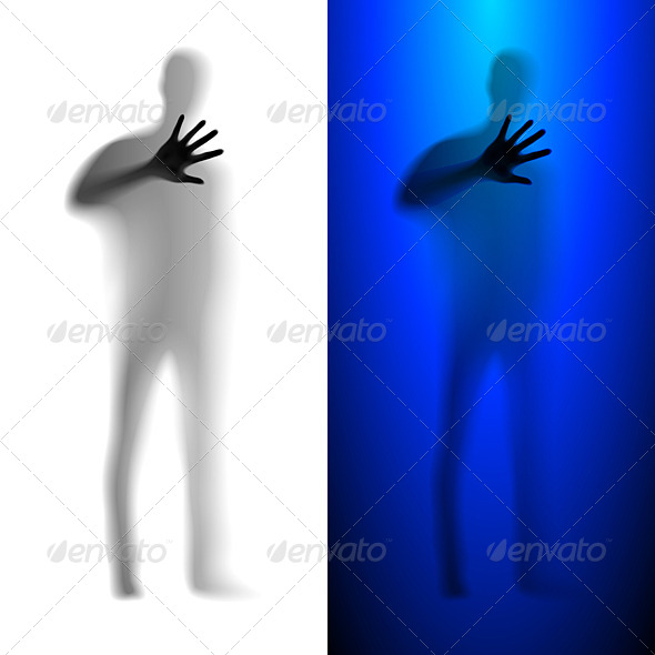 Man Asking for Help - Miscellaneous Vectors