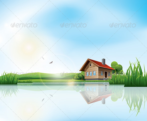 House at the Lake - Buildings Objects