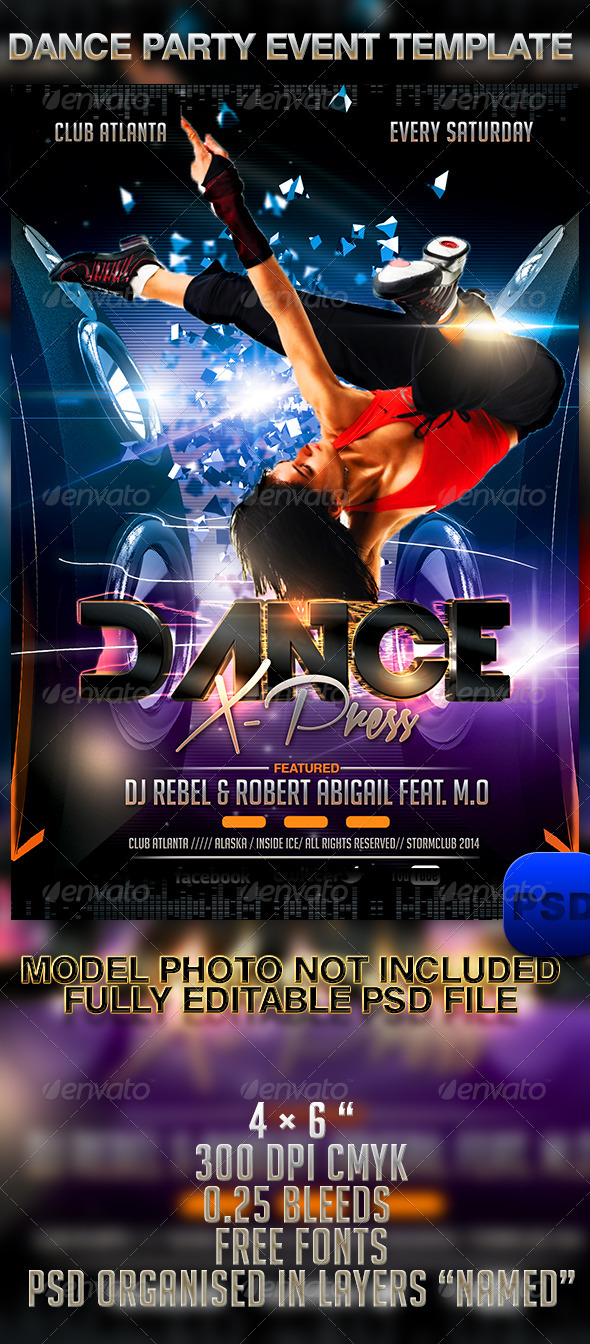 Dance Party Event Template - Events Flyers