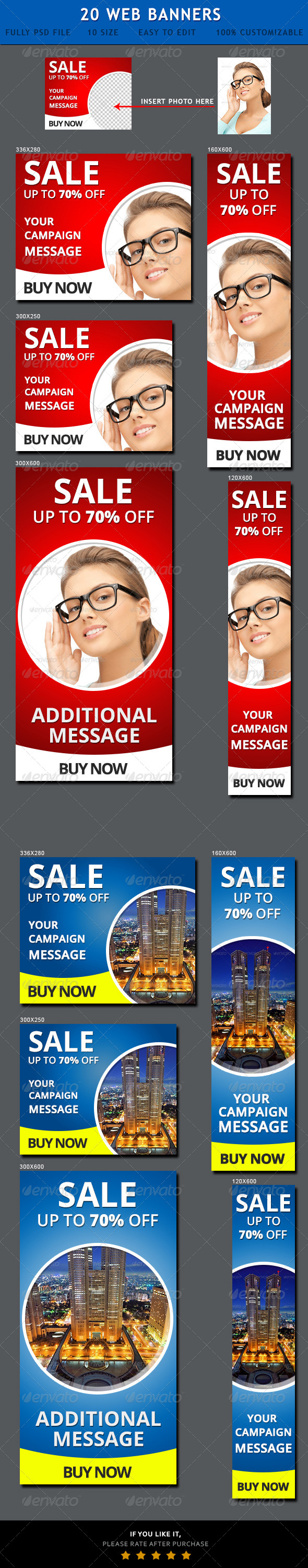 Sales Website Banner Ads - Banners & Ads Web Elements