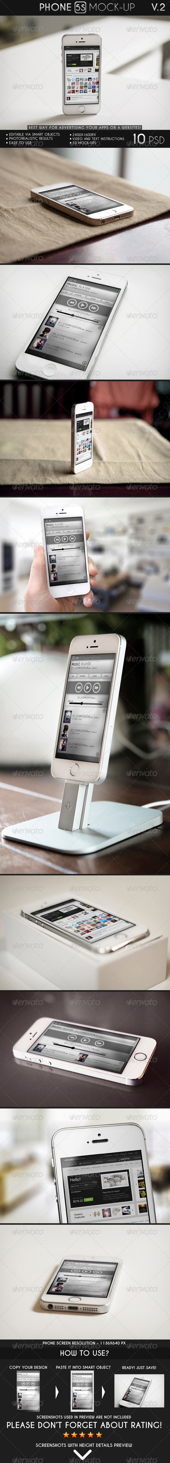 Phone 5S Mock-Up - Mobile Displays