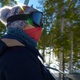 4K Woman Skier Looks Around On The Chair Lift To The Top Of The Mountain - VideoHive Item for Sale