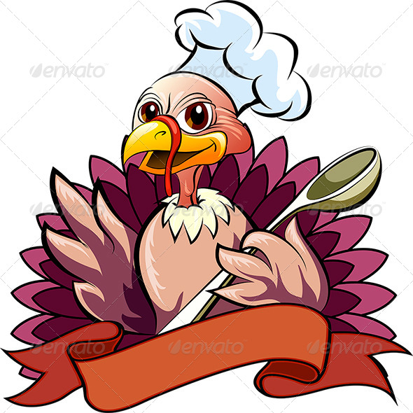 The Turkey Cook - Characters Vectors