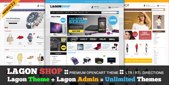 LagonShop - Premium Opencart Theme  - OpenCart eCommerce
