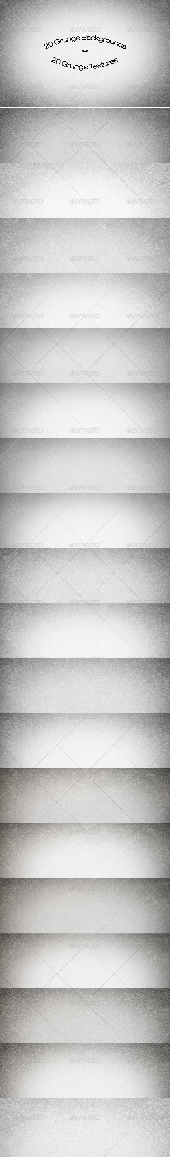 20 Grunge Backgrounds/Textures - Backgrounds Graphics