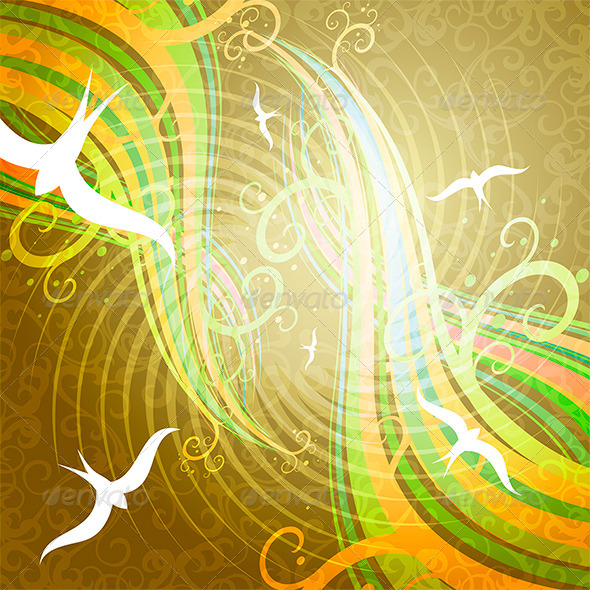 Birds in the Sky - Decorative Vectors
