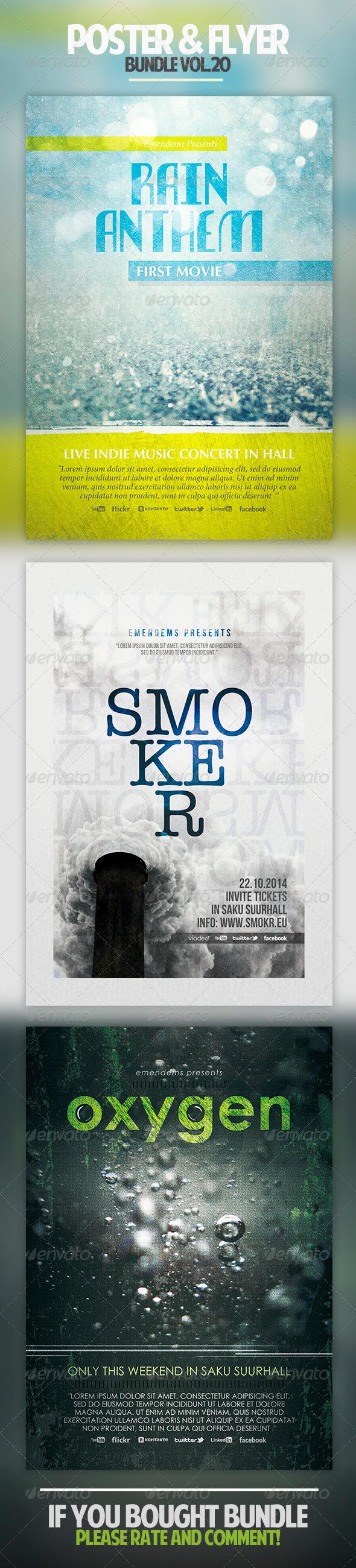 Poster & Flyer Bundle Vol.20 - Miscellaneous Events