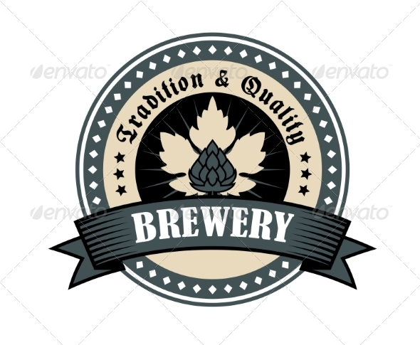 Brewery Icon for Tradition and Quality - Decorative Symbols Decorative