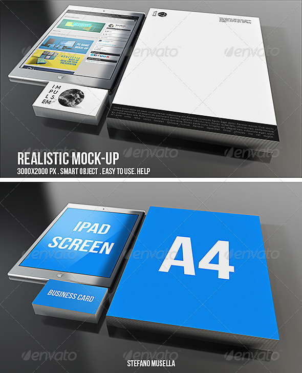 Realistic Branding Mock-up - Product Mock-Ups Graphics